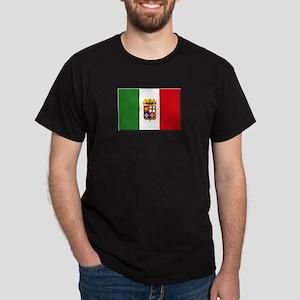 Italian Naval Ensign Flag Dark T-Shirt