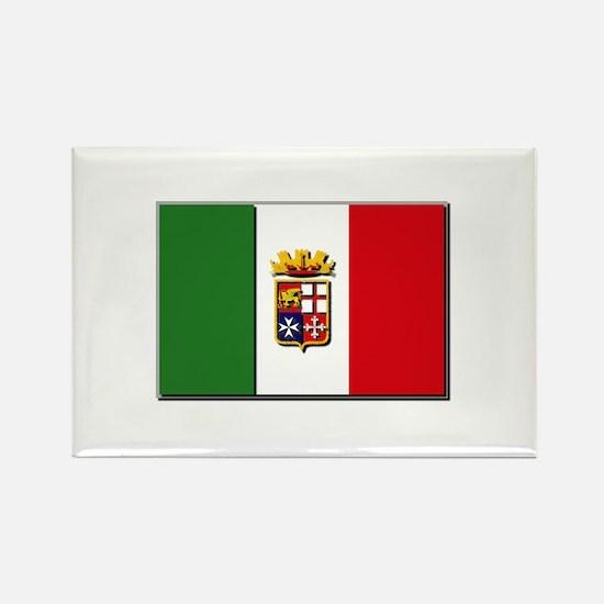 Italian Naval Ensign Fl Rectangle Magnet (10 pack)