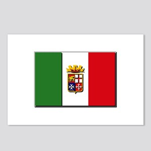 Italian Naval Ensign Flag Postcards (Package of 8)