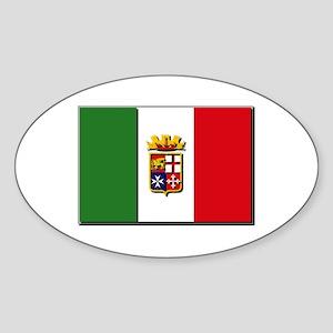 Italian Naval Ensign Flag Sticker (Oval)