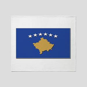 Kosovo Flag Throw Blanket