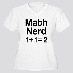 Math Nerd (1+1=2) Plus Size T-Shirt