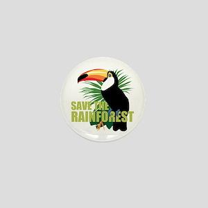 Save The Rainforest Mini Button