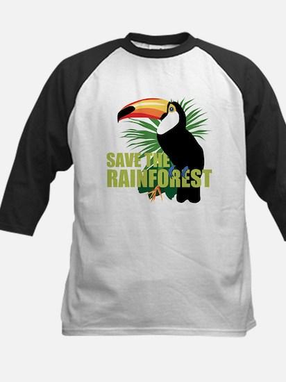 Save The Rainforest Kids Baseball Jersey