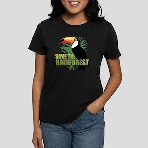 Save The Rainforest Women's Dark T-Shirt