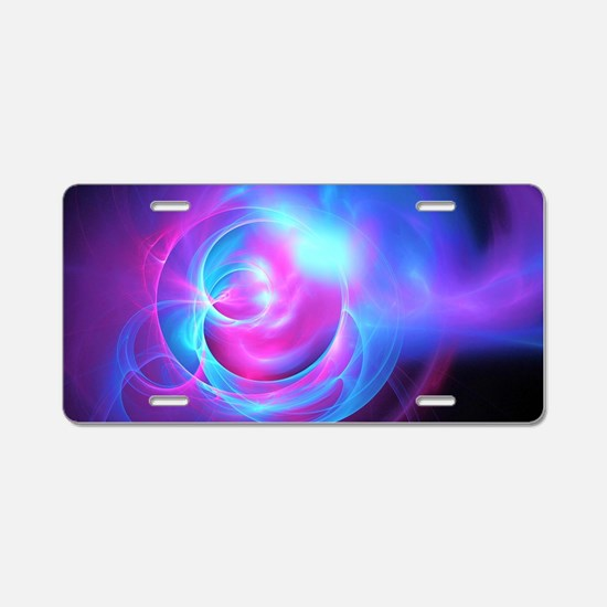 Abstract Art Aluminum License Plate