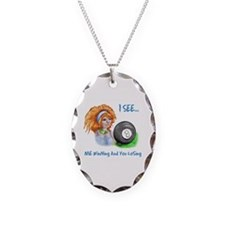 8 Ball Fortune Teller Necklace Oval Charm