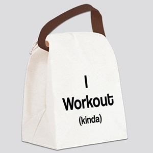 I Workout (kinda) Canvas Lunch Bag