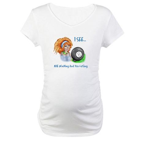 8 Ball Gypsy Fortune Teller v-neck maternity t-shirts