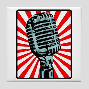 Retro Microphone Tile Coaster