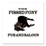The Pissed Pony Square Car Magnet 3