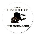 The Pissed Pony Round Car Magnet