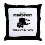 The Pissed Pony Throw Pillow