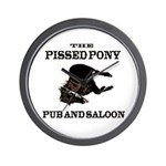 The Pissed Pony Wall Clock