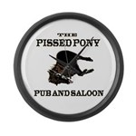 The Pissed Pony Large Wall Clock