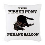 The Pissed Pony Woven Throw Pillow