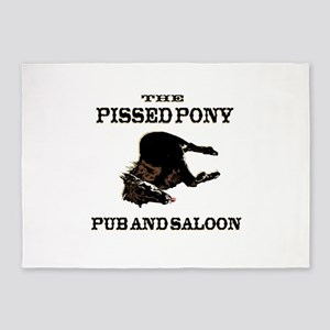 The Pissed Pony 5'x7'Area Rug