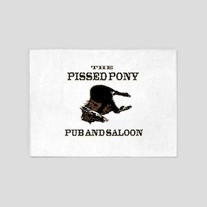 The Pissed Pony 5'x7'Area Rug