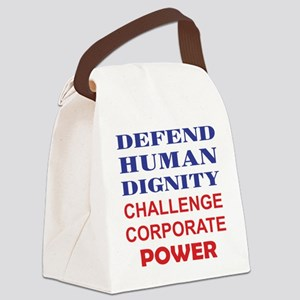 Defend Human Dignity Canvas Lunch Bag