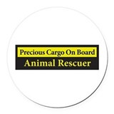 Animal rescue transport Round Car Magnets