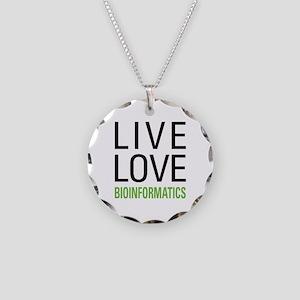Live Love Bioinformatics Necklace Circle Charm