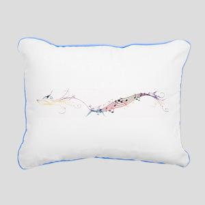 song birds rainbow Rectangular Canvas Pillow