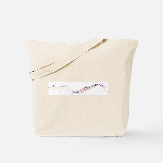 song birds rainbow Tote Bag