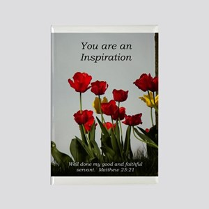 Inspiration/tulips Rectangle Magnet