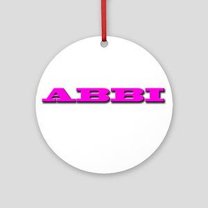 ABBI Ornament (Round)