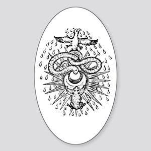 Alchemical Frog, Snake and Ph Oval Sticker