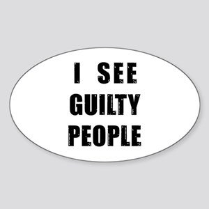 See Guilty People Oval Sticker