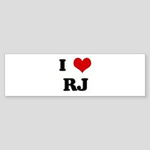 I Love RJ Bumper Sticker