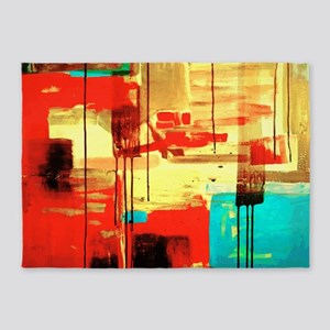 Abstract Painting 5'x7'area Rug