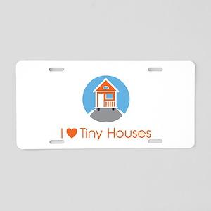 Ilovetinyhousesorangehouse Aluminum License Plate