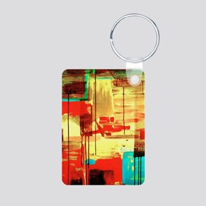 Abstract Painting Aluminum Photo Keychain