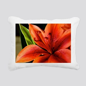 Spring Orange Lilly  Rectangular Canvas Pillow
