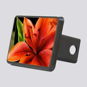 Spring Orange Lilly  Rectangular Hitch Cover