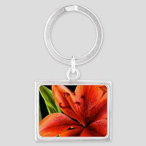 Spring Orange Lilly  Landscape Keychain