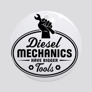 diesel mechanics Round Ornament