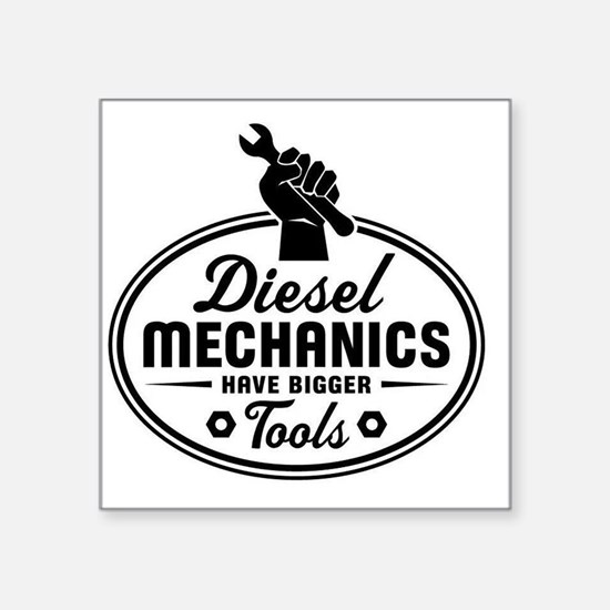"diesel mechanics Square Sticker 3"" x 3"""
