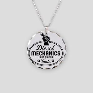 diesel mechanics Necklace Circle Charm