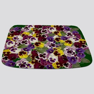 Lovely Pansies Bathmat