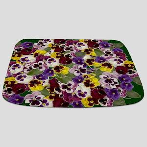Lovely Pansies Bathmat