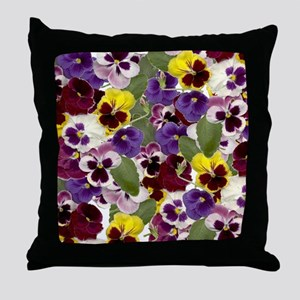 Lovely Pansies Throw Pillow
