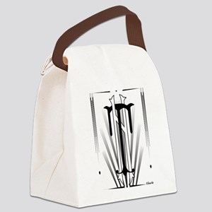 Art Deco Nikola Tesla Canvas Lunch Bag