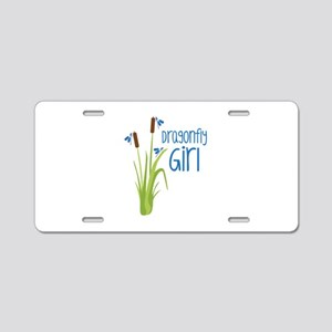 Dragonfly Girl Aluminum License Plate