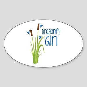 Dragonfly Girl Sticker