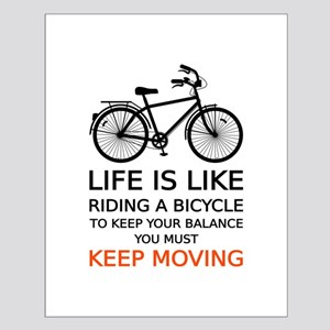 life is like riding a bicycle, word art, text Post