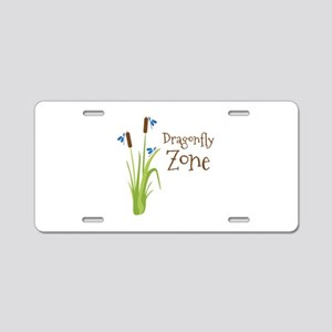 Dragonfly Zone Aluminum License Plate
