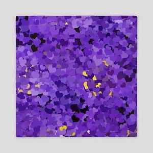 Purple Confetti Hearts Queen Duvet